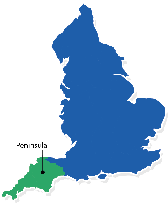 NHS Peninsula Map